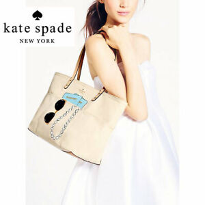 Kate Spade WEDDING BELLES SUNGLASSES PASSPORT PEARLS Tote Travel Bag FRANCIS BON