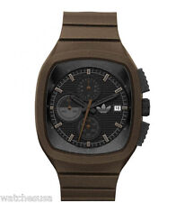 Adidas Men Toronto Chronograph Brown Band Date 45 x 40mm Watch ADH2136