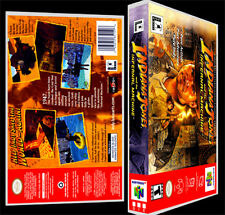 indiana jones and the infernal machine-n64 reproduktion kunst case/box kein spiel.