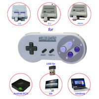 for PC MAC Raspberry USB Wireless SNES Controller Gamepad & Receiver Lot 1/2