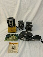 Bundle of Vintage Cameras. Quartz M, Brownie, Halina