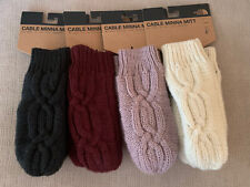 NWT The North Face Women's Cable Minna Mitt Mitten Black Red Prpl White XS/S M/L
