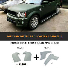 For Land Rover LR4 10-13 Front Rear Bumper Lip Splitter With LED DRL Light Refit