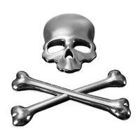 3D Logo Skeleton Skull Bone Emblem Badge Sticker For Car Auto Motor Metal I L8B2