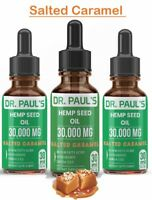 3 Pack - Hemp Oil Drops - Salted Caramel | Extra strength | 30,000 mg