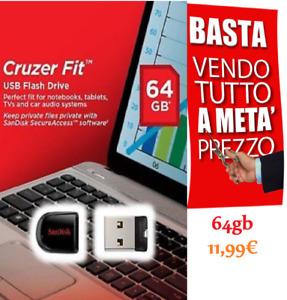 64gb PENDRIVE mini CHIAVETTA mini USB PENNA SanDisk 2.0/3.0 Ult Drive usb Stick