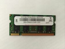 New Ventura SO-DIMM 2GB PC2-5300 667MHz DDR2 200pin D2-55GG111MV-555 Double side
