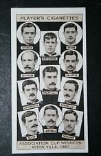 Aston Villa  1897  FA Cup Winning Team  Vintage Photo Card # VGC