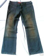 Dirty délavé femme jeans 30/32 Bottes Coupe Jeans de taille basse