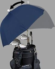 Navy Adjustable Flex Golf Bag Umbrella - RainStoppers Rain/Sun UV Caddy