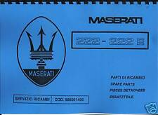 Parts Manual MASERATI BITURBO 222/222e catalogo parti di ricambio parti di ricambio