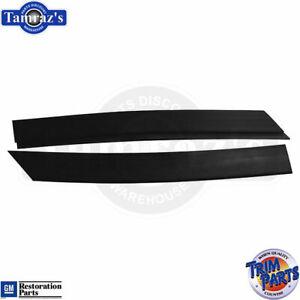 64-65 Skylark Cutlass LeMans Rear Speaker Shelf Package Tray Trim END CAPS
