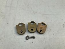 Lot Of 3 Vintage Jacksons Padlocks; With 1 Key For All; Decorative; Rustic