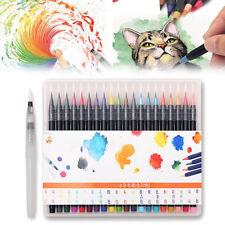 20 Pcs Calligraphy Pen Soft Brush Marker Watercolor Pen Cartoon Sketch Drawing