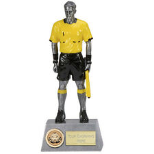 """FOOTBALL Soccer Linesman Assistant Referee TROPHY 8.75"""" FREE ENGRAVING Award New"""