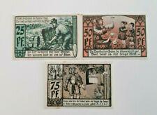 DIEPHOLZ NOTGELD 25, 50, 75 PFENNIG 1921 NOTGELDSCHEINE (11586)