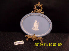 Wedgwood Slavery Oval Tray - Am I Not A Man And A Brother Blue Jasperware