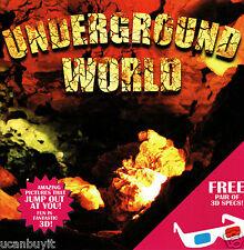 3-D UNDERGROUND WORLD Children's Beginners Activity Book w/3D Glasses Ages 3+