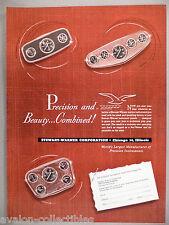 Stewart-Warner Boat Marine Instruments PRINT AD - 1948