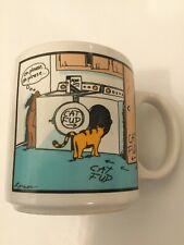 FAR SIDE CAT FUD OH PLEASE Gary Larson Stoneware Coffee Cup MUG FarWorks 1985