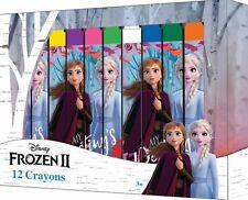 Disney Frozen 12 Wachsmalstifte Die Eiskönigin Buntstifte Box Neu Anna Elsa Olaf