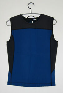 NWT prAna Men's Blue & Black Waymann 2mm Sleeveless Neoprene Vest sz M