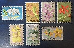 Barbados - Part Set Orchids Mounted Mint - 1974