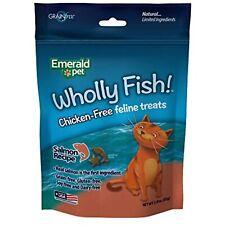 Emerald Pet 024162 Wholly Fish Chicken- Cat Treats