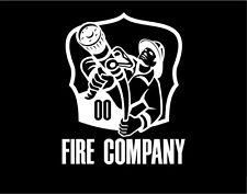 Firefighter Sticker with hose Window Vinyl Decal
