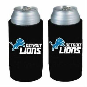 Detroit Lions NFL 2 pack Ultra Slim Can Koozie cooler hugger
