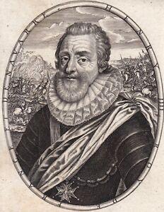 Portrait XVII Henri IV Roi de France De Bourbon Henri III Roi Navarre  Moncornet