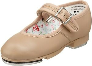 Capezio 258604 Toddler Girls Mary Jane Tap Shoes Caramel Size 9 M