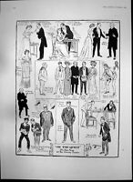 Antique Old Print On Quiet Farce Comedy Theatre Hms Renown Royals India 1905
