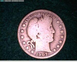 1907 O Barber Half Dollar ( 35-167 6m1 )