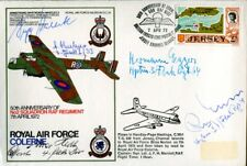 RAF cover signed by FIVE German WW2 Flak Knight's Cross holders
