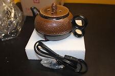 Yankee Candle Brown Tea Pot Tart Warmer - NIB w/Tags