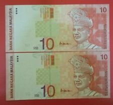 (C) Duit Lama RM10 10th Series - BS 5959064 - 65 (AU/UNC)