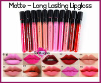 Me Now Matte Velvet Lip Lacquer Long Lasting Lip Gloss Lipstick Pink Nude Red