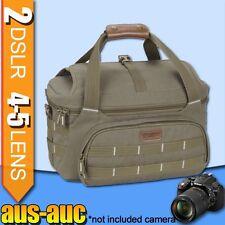 Camera Carry Travel Shoulder Bag for 2x DSLR 3-4 Lenses Speedlight Tripod Holder