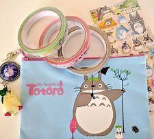 Three Totoro kawaii deco tape roll (25m), pencil case, keychain stickers!