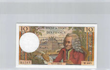 France 10 Francs Voltaire 7.11.1968 w.445 n° 1112427742 F.62 (35)
