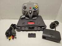 Nintendo 64 N64 System Console with OEM Controller Cables and Expansion Pack