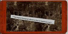 1870s Stereoview Woodlawn Cascade Bolton Road Lake George NY