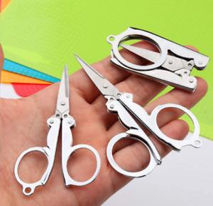 1 X Key-Ring Pocket  Travel Sewing Folding Scissors Crafts Needlework UK Seller