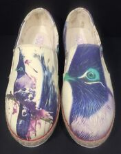 Goby Canvas Slip On Shoes Birds 39 Womens 8.5