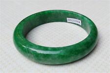 New Certified 100%natural Jadeite Light Green Emerald Jade Bracelets 59MM