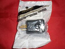 2 pcs Leviton 5256-VB 15 Amp, 125 Volt, Industrial Grade, Plug, Straight Blade,