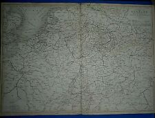 1847 Black's Atlas Map ~ GERMANY HOLLAND ~ Antique & Authentic ~ Eng by W HUGHES