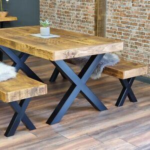 Farmer Table Rustic Farmhouse Dining Table. Reclaimed Wood - Handmade