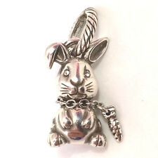 Brighton ABC Bugsy Rabbit Charm J93682, Silver Finish,   New